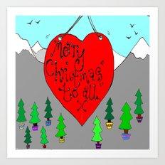 christmas love Art Print