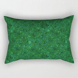 Green shiny confetti Rectangular Pillow