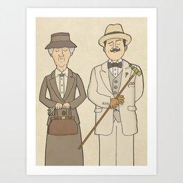 Marple and Poirot Art Print