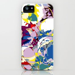 circle color fractures iPhone Case