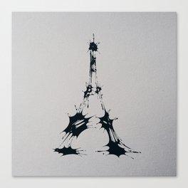 Splaaash Series - Iron Lady Ink Canvas Print