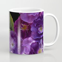 Beautiful Dark Purple Vintage Roses Frame Coffee Mug