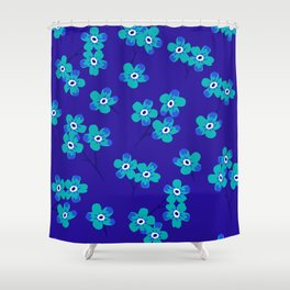 Forget-me-nots - Blue Shower Curtain