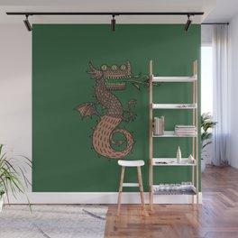 Dragon with three eyes Wall Mural