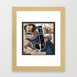 J is for Jawbreaker Framed Art Print