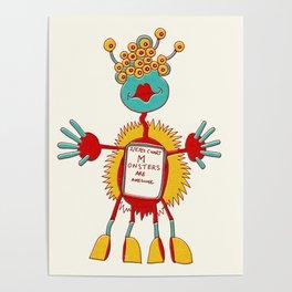 Robot Alien Monster No 042 Poster