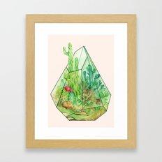 DeserTerrarium Framed Art Print