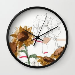 late summer / the things i kept inside Wall Clock