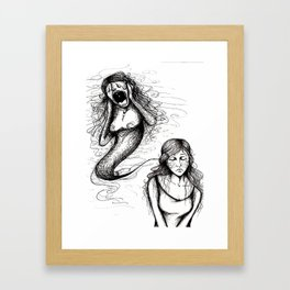 That whole anxiety and shit Framed Art Print
