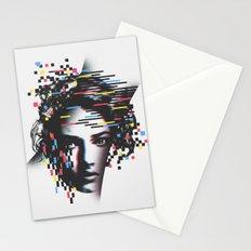 Glitch Woman Stationery Cards