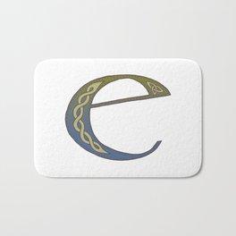 Celtic Knotwork Alphabet - Letter E Bath Mat