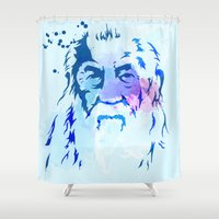 gandalf Shower Curtains featuring Gandalf by BIG Colours
