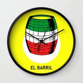 El Barril Mexican Loteria Card Wall Clock