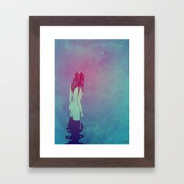 Skinny Dipping Framed Art Print