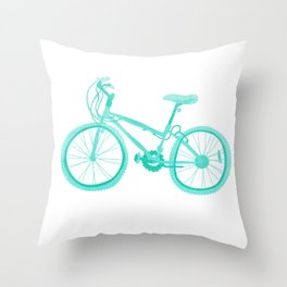 No Mountain Bike Love? Throw Pillow