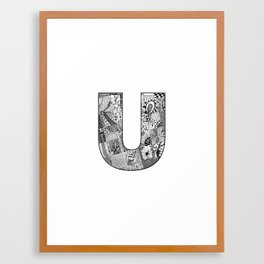 Cutout Letter U Framed Art Print