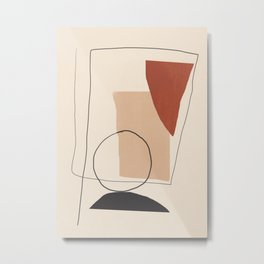 Minimal Abstract Art 09 Metal Print
