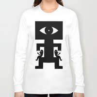 cyclops Long Sleeve T-shirts featuring Cyclops by Jad Fair