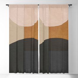 abstract minimal 59 Blackout Curtain