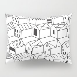 Architect and Little Houses Pillow Sham