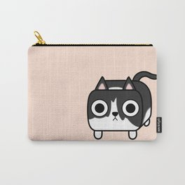 Cat Loaf - Tuxedo Kitty - Black and White Carry-All Pouch