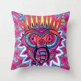 Elefante Hindú Throw Pillow
