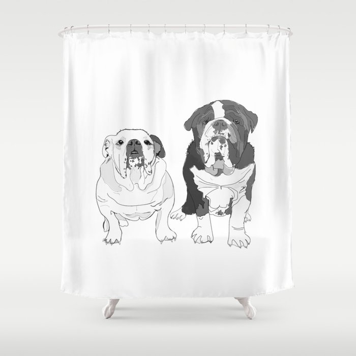 English Bulldog Brothers Shower Curtain