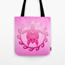 Pink Tribal Turtle Sun Tote Bag
