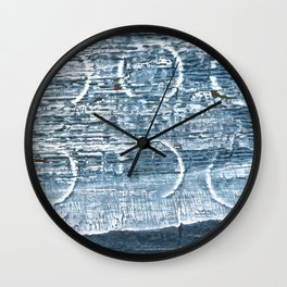 Weldon Blue abstract watercolor Wall Clock