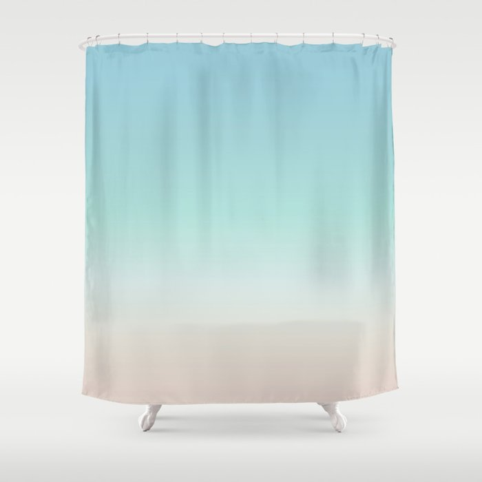 beach gradient shower curtain by ninabaydur society6. Black Bedroom Furniture Sets. Home Design Ideas