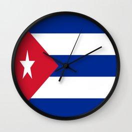 Flag of Cuba Wall Clock