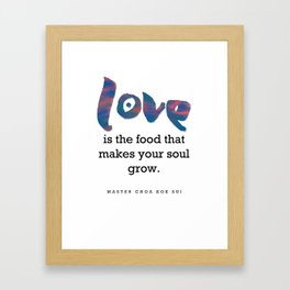 Love Is Food Framed Art Print
