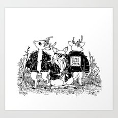 The Triple Dare Deerz Art Print