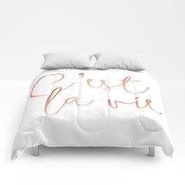 C'est la vie Rose Gold #society6 #decor #buyart Comforters