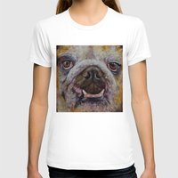 bulldog T-shirts featuring Bulldog by Michael Creese