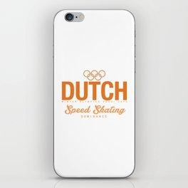 Dutch - Speed Skating iPhone Skin