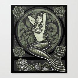 Vintage Classic Mermaid Pinup Canvas Print