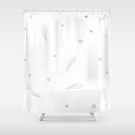 origami paper jets Shower Curtain