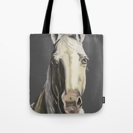 Horse Art, Grey Horse Art, Farm Animal Art Tote Bag