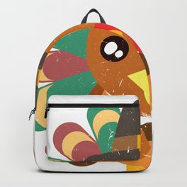 Cute Turkey Holding An Ax Happy Turkey Day Thanksgiving Save A Turkey Awareness T-shirt Design Backpack