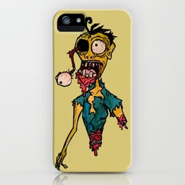 Scary Bloody Zombie iPhone Case