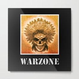 Warzone Native Indians Feather Headdress Fight War Metal Print