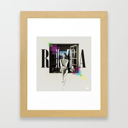 Divas: Rita Hayworth. Framed Art Print