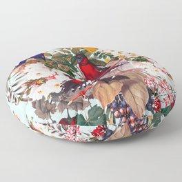 Floral and Birds XXXI Floor Pillow