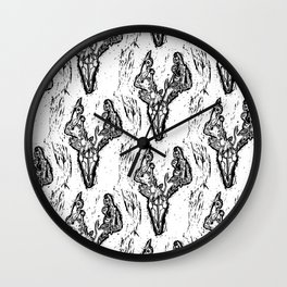 Deer Skull Pattern Wall Clock
