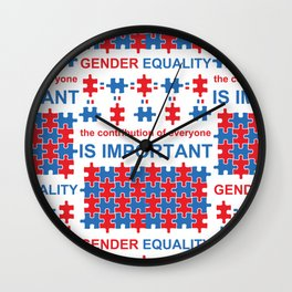 Gender Equality_02 by Victoria Deregus Wall Clock