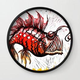 Angler Fish Wall Clock