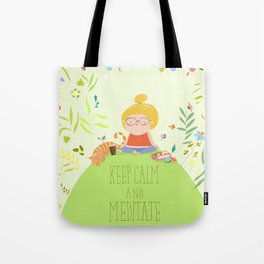 Keep Calm and do yoga Tote Bag