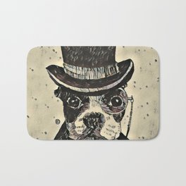 Aristocratic dog Bath Mat