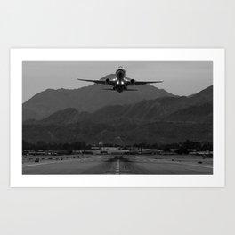 Alaska Airlines Palm Springs Takeoff Art Print